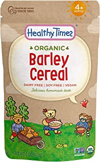 Healthy Times Organic Whole Grain Baby Cereal, Barley | Baby Food for Babies 4 Months & Older | 5 Oz. Bag, 1 Count