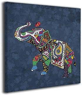 インドの神様 ガネーシャ 背景絵画 インテリア デザイン 壁キャンバス絵画 インテリア 額縁付き お祝いやプレゼントに 芸術の絵画 軽くて取り付けやすい