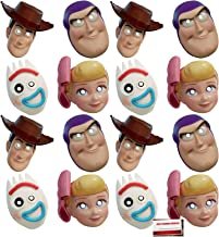 (16 Pack) Toy Story Part 4 Paper Party Masks with Elastic Strap Woody Buzz Lightyear Forky Little Bo Peep (Plus Party Planning Checklist by Mikes Super Store)