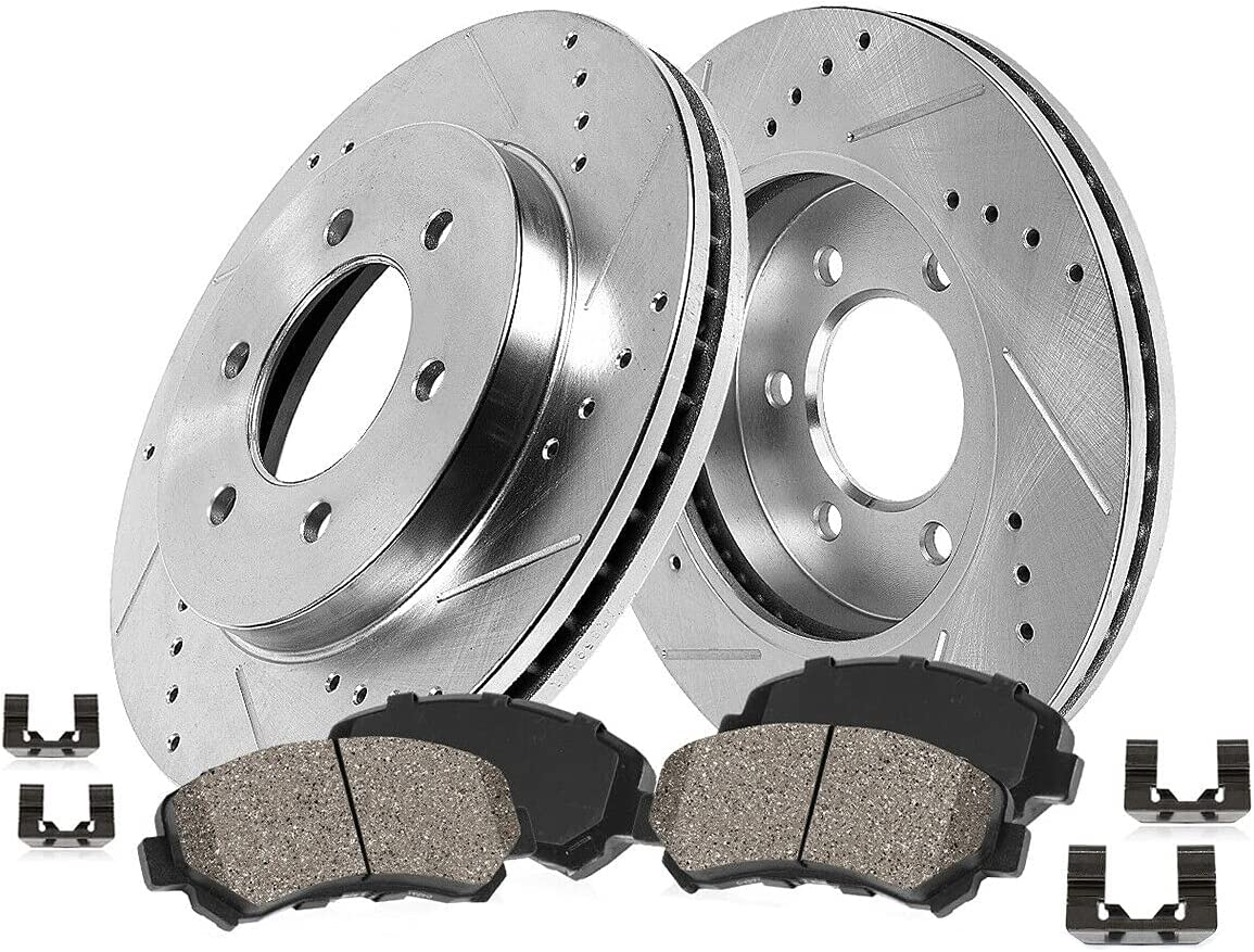 Ass-DG FRONT Drill Slot BRAKE ROTORS Compatible Popular brand Manufacturer direct delivery in the world CERAMIC Pads