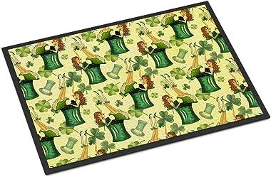 """Caroline's Treasures Watercolor St Patrick's Day Party Indoor or Outdoor Doormat, 18"""" H x 27"""" W, Multicolor"""