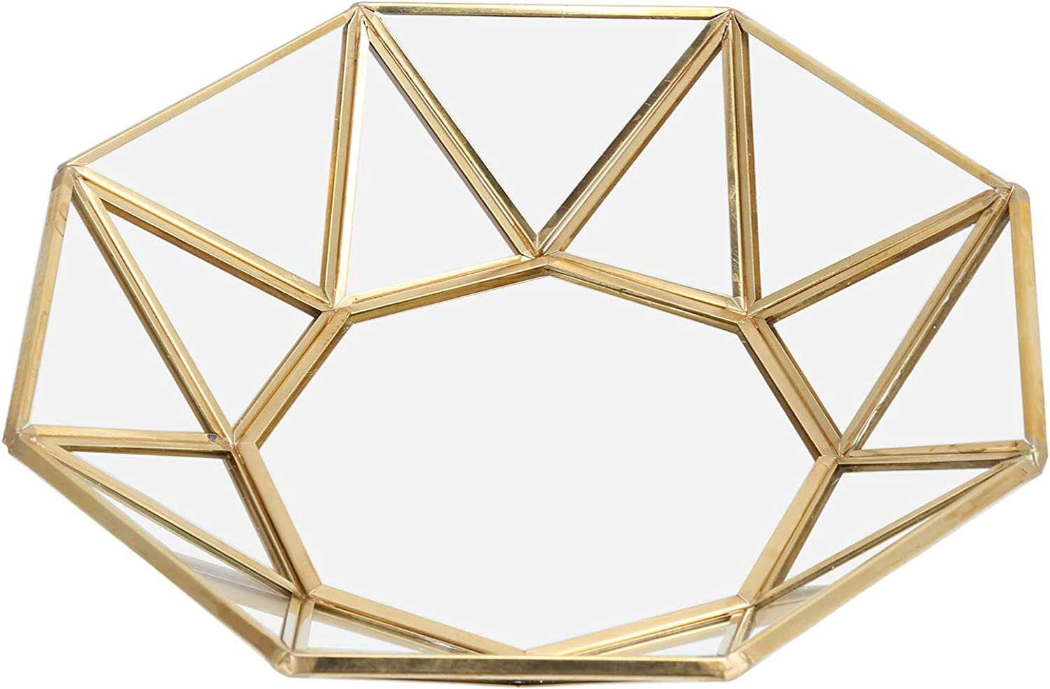 Teror Glass Max 70% OFF Outlet 64% OFF Storage Tray Decorative Octagonal