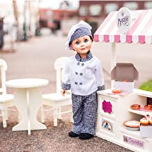 The Queen's Treasures 5 Concession Shops in One! 18 Inch Doll Counter & Café Set with Bakery, Shoe, Pizza, Tea Room and Farm Stands Interchangable Signs! Compatible with American Girl Dolls