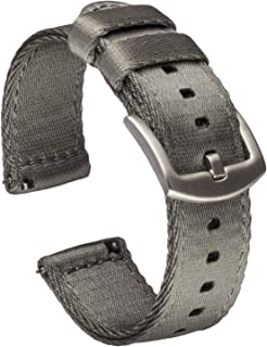 Benchmark Basics Quick Release Watch Band - Premium Waterproof Seatbelt Nylon Watch Straps for Men and Women - Compatible ...