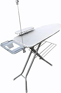Magna Homewares Super Sigma Power Saving ironing Board with Ironing Rest, Cloth Rack, Wire Manager and Sleeve Board-Silver...
