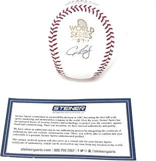 Alex Bregman Houston Astros Signed Autograph Official MLB World Series Baseball Steiner Sports Certified