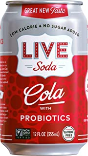 Sponsored Ad - LIVE All Natural Cola With Probiotics, Low Calorie and No Added Sugar, Pack of 24