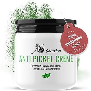 Anti Pickel Creme - Akne Creme - 100% Naturkosmetik - Pickelcreme Gesicht - Für Jeden Hauttypen Geeignet - Creme Gegen Unreine Haut - Zur Reduktion Von Pickeln und Mitesser - Antipickelcreme