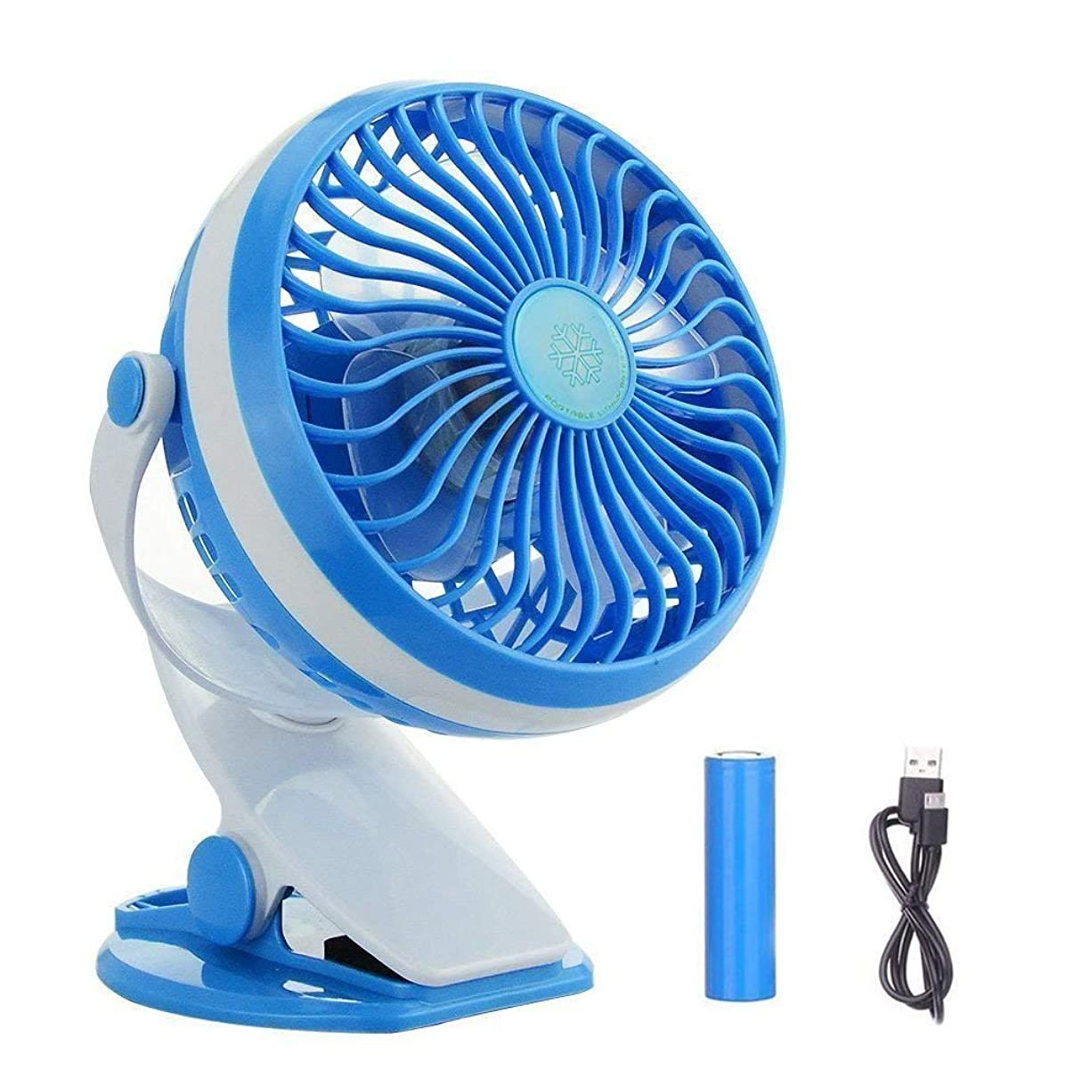 BestFire Clip On Fan, USB Battery Operated Clip Fan for Bed, Personal USB Clip Desk Fan with Stepless Speed, Rechargeable, 360 Degree Rotating for Baby Stroller, Car, Office, Outdoor, Traveling, Camp