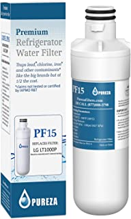 LT1000P Refrigerator Water Filter, Compatible with LG LT1000P, LT1000P, LT-1000PC, MDJ64844601, Kenmore 46-9980, 9980, ADQ74793501, ADQ74793502, by Pureza, 1 PACK