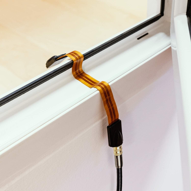 kwmobile Cable para Antena de televisión Plano - Cable alargador Plano de 17CM para Puertas y Ventanas - Cable coaxial Ultrafino de 0,24MM - Naranja