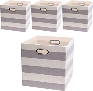 Posprica Storage Bins Storage Cubes, 13×13 Fabric Storage Boxes Foldable Baskets..