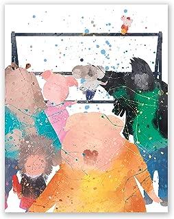 PGbureau Sing Movie Poster – Nursery Wall Art Decor Print – Johnny Becky Ash Buster Meena Gunter Rosita – Kids Room Watercolor Artwork – Party Birthday Christmas (8x10)