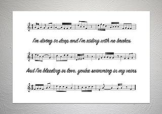 Liam Payne & Rita Ora (vijftig tinten vrij) - Voor u - Song Sheet Art Print - A4 formaat