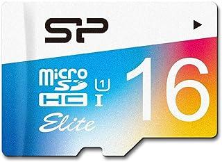 سيلكون باور SP016GBSTHBU1V20AE 16 جيجا، حتى 85 ميجابايت/ثانية مايكرو SDHC UHS-1 Class10، بطاقة ذاكرة فلاش ايليت ، محول