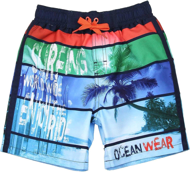 Boboli Boys Board Shorts in Ocean Print, Sizes 4-16