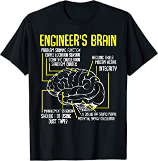 Engineer's Brain Funny Engineering Games Process T-shirt