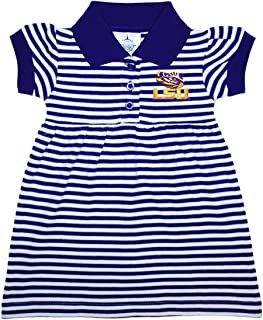 Louisiana State University (LSU) Tigers Striped Game Day Dress with Bloomer