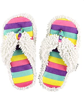 Lazy One Spa Flip-Flop Slippers for Women, Girls' Fuzzy House Slippers
