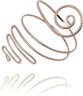 Filigree Gypsy Swirl Snake Arm Cuff Wire Armlet Armband Stretchy Bangle Bracelet