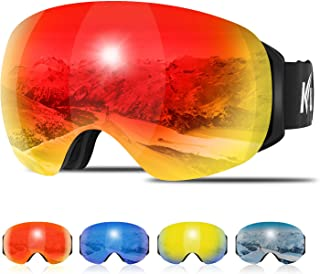 Ski Goggles Men Women, Large Spherical Frameless Snow Goggles