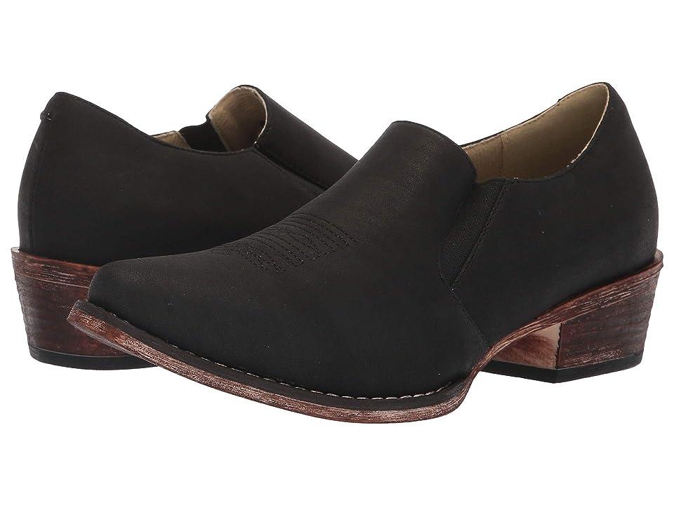 Roper Birkita Classic (Vintage Black Faux Leather) Women
