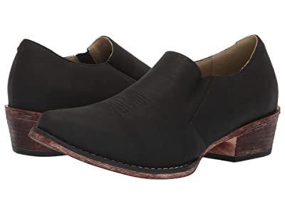 Roper Birkita Classic (Vintage Black Faux Leather) Women