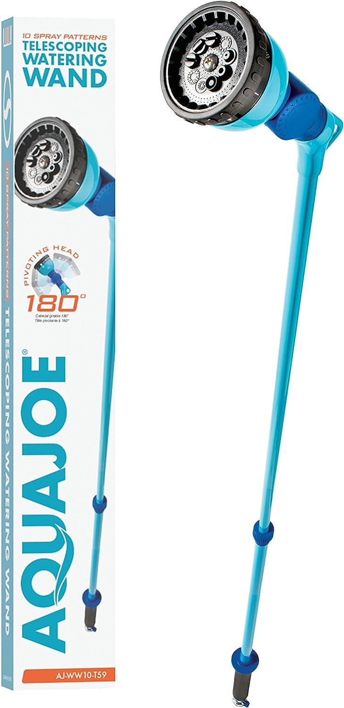 Aqua New mail order Joe AJ-WW10-T59 Telescoping Watering Metal Max 43% OFF 10-Pattern Wand