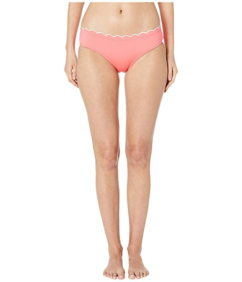 Kate Spade New York Contrast Scalloped Hipster Bikini Bottoms