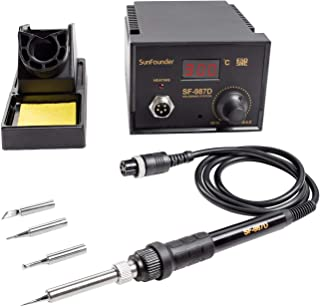 SunFounder Analog Adjustable Temperature Thermostat Soldering Iron Station Kit (Digital Soldering Station)