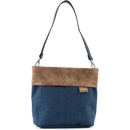 Zwei Olli OT8 Tasche Damen Umhängetasche Schultertasche 25x23x10 cm (BxHxT), Farbe:, Blue (Blau), One size