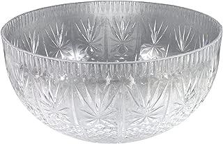 Crystalware Maryland Plastics Crystal Cut Bowl, 12 quart, Clear
