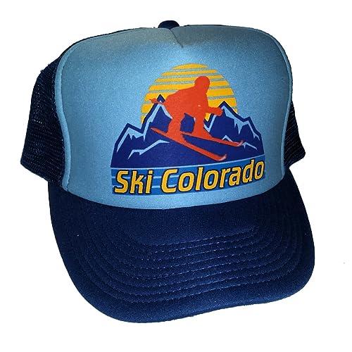 Ski Colorado Snapback Mesh Trucker Hat Cap Skiing 9233fdde9652