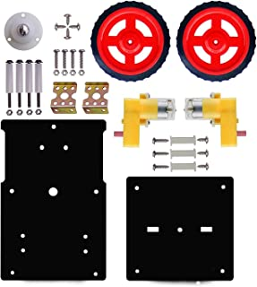 StonKraft Stem Diy Basic Robotic Kit I Complete Robot Chassis Double Layer Robotic Chassis Motor Wheel Clamp Screw Compone...