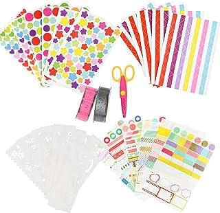 YOTINO Kit Accessoires Scrapbooking Album Photo Enfant Naissance, Scrapbooking Autocollant Décoratifs Pochoir Peinture Cis...