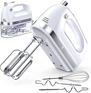 Hand Mixer Electric, 400W Ultra Power Kitchen Mixer Handheld Mixer With 2x5 Speed (Turbo Boost & Automatic Speed) + Storag...