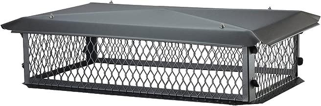 HY-C BBT1729K-10W BigTop Multi-Flue Chimney Cover, Black Galvanized Steel, 10