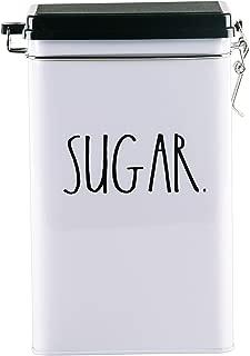 Rae Dunn Tin Storage Box With Metal Clamp Locking Lid (Sugar)