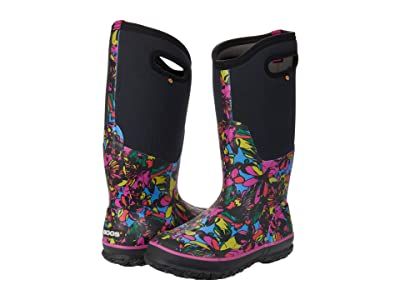 Bogs Classic Tall Wild Flower (Black Multi) Women
