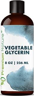 Natural Vegetable Glycerin for Skin Care- Organic Vegetable Glycerine Face Wash Glycerine Liquid Oil Glycerine