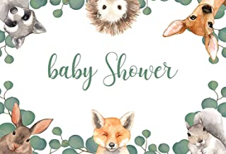 7x10 FT Vinyl Photography Backdrop,Flexing and Stretching Fox Meditation Cute Little Cartoon Animals Dotted Background Background for Party Home Decor Outdoorsy Theme Shoot Props