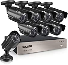 ZOSI 8CH 5MP-Lite Home Security Surveillance System,H.265+ 8Channel 5MP-Lite HD-TVI CCTV DVR and 8pcs 1080P Indoor Outdoor Weatherproof Cameras with 80ft Night Vision,Motion Alert,NO Hard Drive
