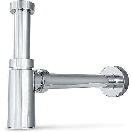 Design Sifon Siphon Ablauf Abfluss Flaschensifon für Waschtisch ABS-verchromt