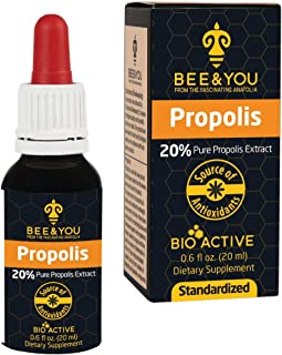 Bee&You Propolis Extract 20% Alcohol Based, gastrointestinal, 20 ml