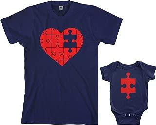 Threadrock Heart & Missing Piece Infant Bodysuit & Men's T-Shirt Matching Set