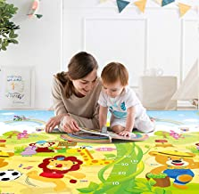 Zofey Baby Waterproof XL Extra Lare Size Double Side Anti Skid Big Soft Crawl Mattress Floor Playmat for Kids (Multicolour, 6.5 X 6 ft)