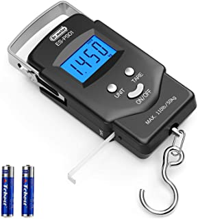 Dr.meter Backlit LCD Display Fishing Scale, 110lb/50kg Electronic Balance Digital Fishing..