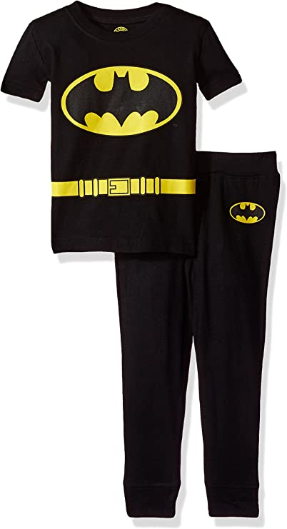 Kids Boys Spiderman Batman Long Sleeve Pajamas Outfits Set Sleepwear Nightwear