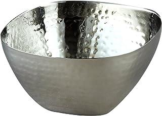 Elegance Hammered Square Bowl, 10-Inch