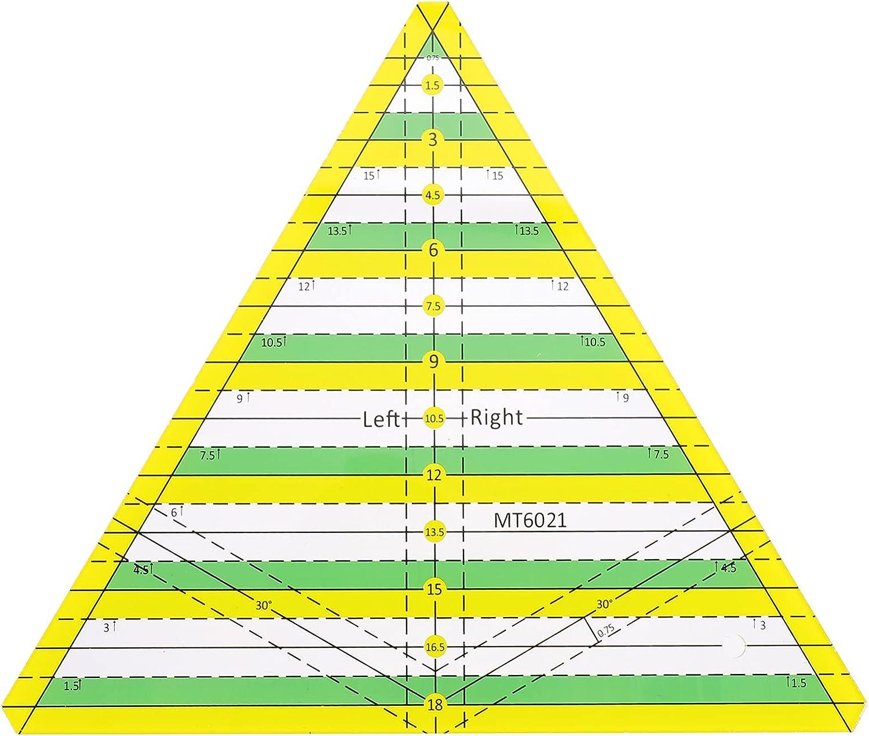 Healifty Plastic Triangle Quilting Dedication Grid Popular standard Lin Ruler